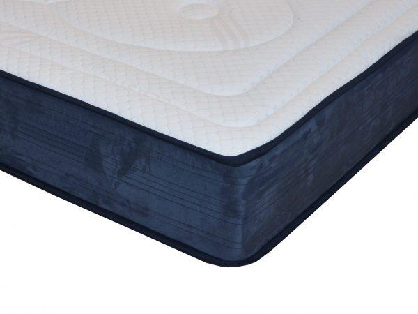muelles ensacados, viscoelastica, gel, viscogel, comodidad, confort, SPA, azul, suave,