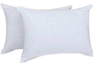 Almohada pluma y plumón, plumón europeo, almohada suave, adaptable, almohada plumon, almohada plumas