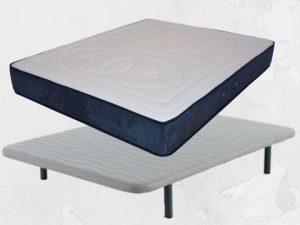 Pack Ahorro. Colchón muelles ensacados modelo Spa y Base Transpirable. Mejor cama