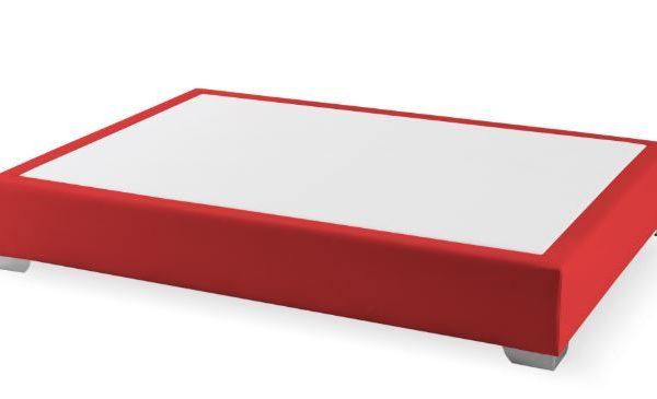 Canapé fijo Max colchón polipiel Rojo