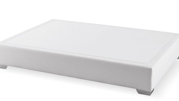 Canapé fijo Max colchón polipiel blanco