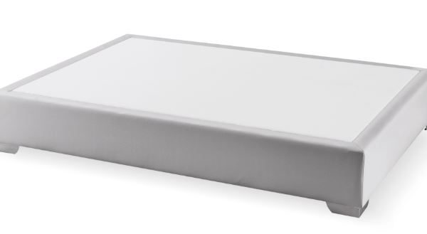 Canapé fijo Max colchón polipiel plata